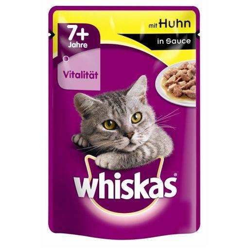 Whiskas Portionsbeutel 7+ mit Huhn in Sauce 100g (Menge: 24 je Bestelleinheit)