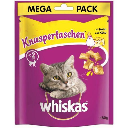 Whiskas Snack Knuspertaschen Huhn & Käse 180g (Menge: 4 je Bestelleinheit)