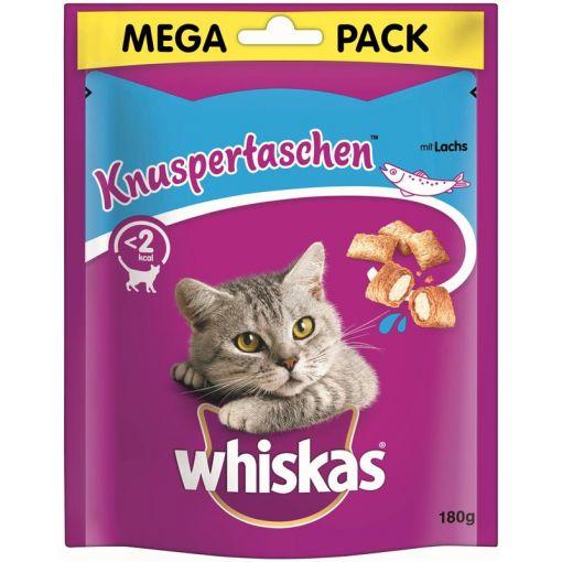Whiskas Snack Knuspertaschen Lachs  180g (Menge: 4 je Bestelleinheit)