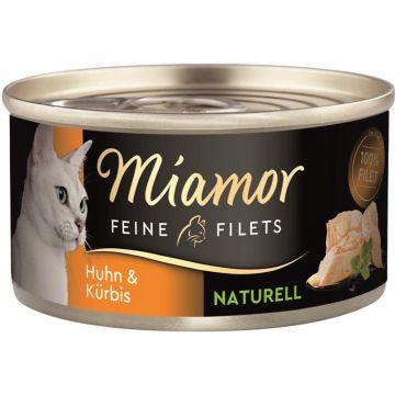 Miamor Feine Filets Naturelle Huhn & Kürbis 80g (Menge: 24 je Bestelleinheit)