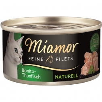 Miamor Feine Filets naturelle Bonito-Thunfisch 80g (Menge: 24 je Bestelleinheit)