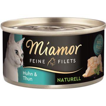 Miamor Feine Filets Naturelle Huhn & Thunfisch 80g (Menge: 24 je Bestelleinheit)