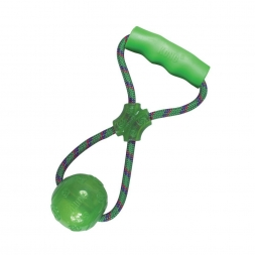 KONG Squeezz Ball Medium, mit Handgriff