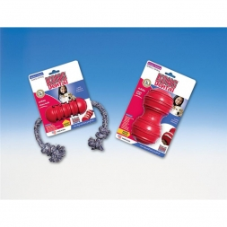 KONG Dental Small mit Seil   rot