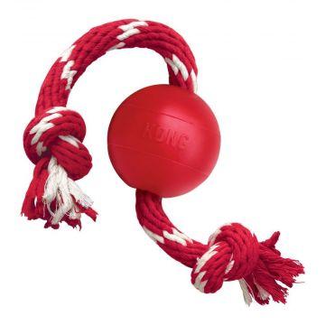 KONG Ball mit Seil, 6.5cm, Länge 40cm