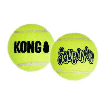 KONG SqueakAir Balls Medium, gelb 6 Stk.