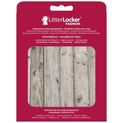 LitterLocker Fashion Stoff-Bezug Wood