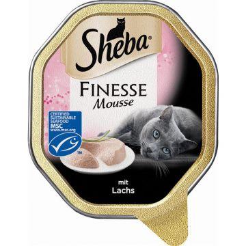Sheba Schale Finesse Mousse mit Lachs 85g (Menge: 22 je Bestelleinheit)