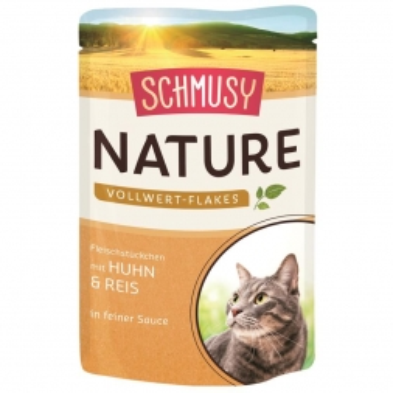 Schmusy Nature Vollwert-Flakes FB Huhn & Reis 100g (Menge: 22 je Bestelleinheit)