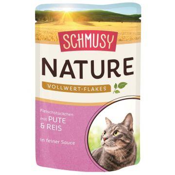 Schmusy Nature Vollwert-Flakes FB Pute & Reis 100g (Menge: 22 je Bestelleinheit)
