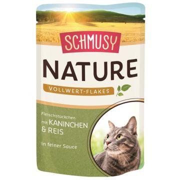 Schmusy Nature Vollwert-Flakes FB Kaninchen & Reis 100g (Menge: 22 je Bestelleinheit)