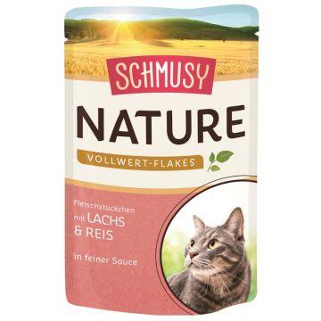 Schmusy Nature Vollwert-Flakes FB Lachs & Reis 100g (Menge: 22 je Bestelleinheit)