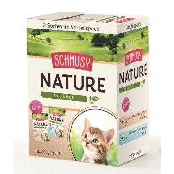 Schmusy Nature Kitten Multibox 12x100g (Menge: 4 je Bestelleinheit)