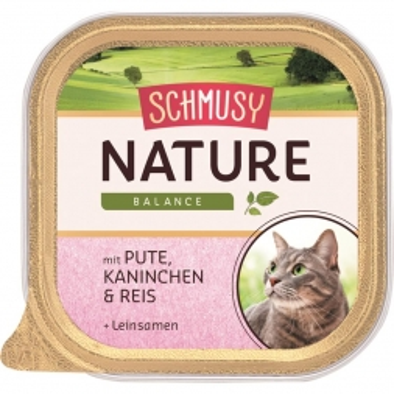 Schmusy Nature Balance FB Pute & Kaninchen 100g (Menge: 16 je Bestelleinheit)