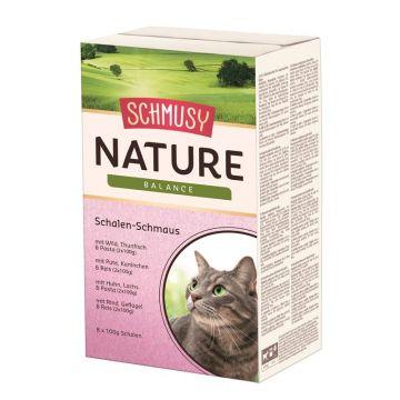 Schmusy Nature Balance Schalen-Schmaus 8x100g (Menge: 4 je Bestelleinheit)