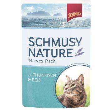 Schmusy Nature Meeres-Fisch FB Thunfisch & Reis 100g (Menge: 24 je Bestelleinheit)