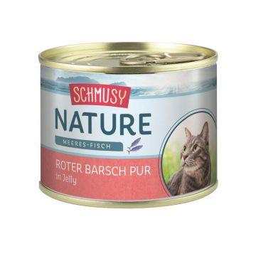Schmusy Nature Meeres-Fisch Dose Roter Barsch pur 185g  (Menge: 12 je Bestelleinheit)