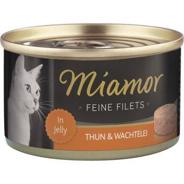 Miamor Dose Feine Filets Thunfisch & Wachtelei 100g (Menge: 24 je Bestelleinheit)
