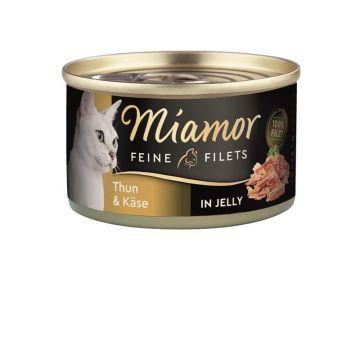 Miamor Dose Feine Filets Thunfisch & Käse 100g (Menge: 24 je Bestelleinheit)
