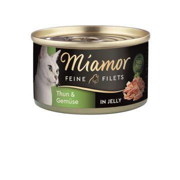 Miamor Dose Feine Filets Heller Thunfisch & Gemüse 100g (Menge: 24 je Bestelleinheit)