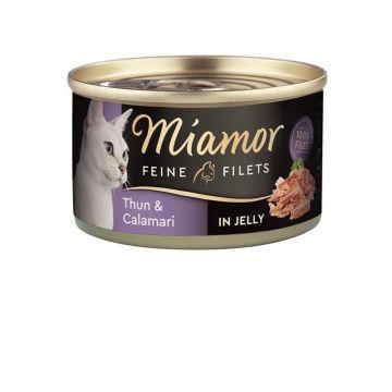 Miamor Dose Feine Filets Thunfisch & Calamaris 100g (Menge: 24 je Bestelleinheit)
