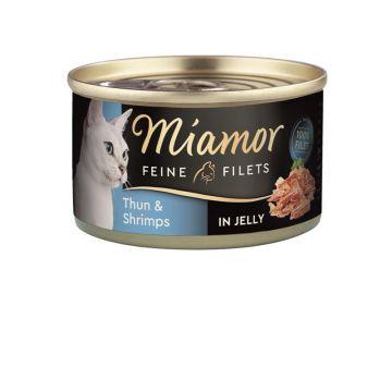 Miamor Dose Feine Filets Heller Thunfisch & Shrimps 100g (Menge: 24 je Bestelleinheit)