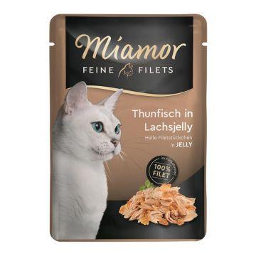 Miamor FB Feine Filets Thunfisch in Lachsjelly 100g (Menge: 24 je Bestelleinheit)