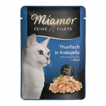 Miamor FB Feine Filets Thunfisch in Krebsjelly 100g (Menge: 24 je Bestelleinheit)