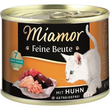 Miamor Dose Feine Beute Huhn 185g (Menge: 12 je Bestelleinheit)