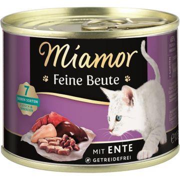 Miamor Dose Feine Beute Ente 185g (Menge: 12 je Bestelleinheit)