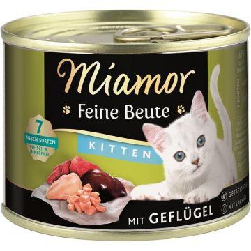 Miamor Dose Feine Beute Kitten Geflügel 185g (Menge: 12 je Bestelleinheit)
