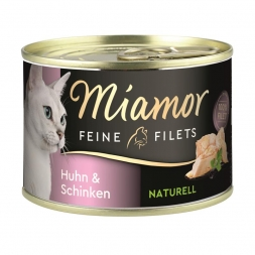 Miamor Feine Filets Naturelle Huhn & Schinken 156g Dose (Menge: 12 je Bestelleinheit)