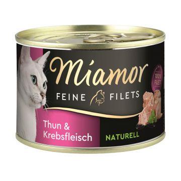 Miamor Dose Feine Filets Naturelle Thunfisch & Krebsfleisch 156g  (Menge: 12 je Bestelleinheit)