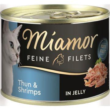 Miamor Dose Feine Filets Thunfisch & Shrimps 185g  (Menge: 12 je Bestelleinheit)