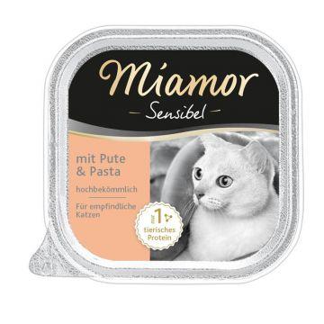 Miamor Schale Sensibel Pute & Pasta 100g (Menge: 16 je Bestelleinheit)