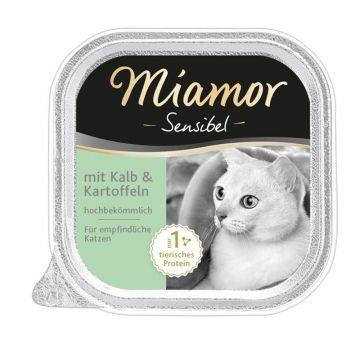 Miamor Schale Sensibel Kalb & Kartoffel 100g (Menge: 16 je Bestelleinheit)