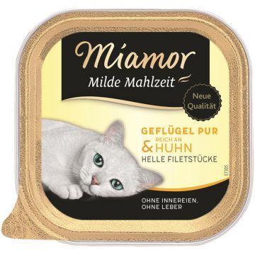 Miamor Schale Milde Mahlzeit Geflügel & Huhn 100g (Menge: 16 je Bestelleinheit)