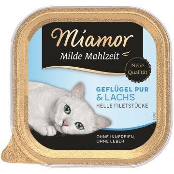 Miamor Schale Milde Mahlzeit Geflügel & Lachs 100g (Menge: 16 je Bestelleinheit)