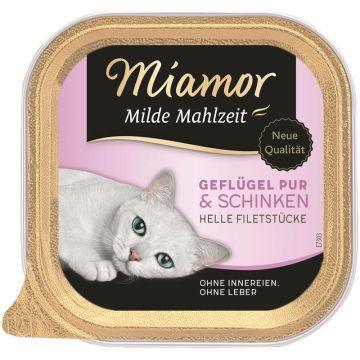Miamor Schale Milde Mahlzeit Geflügel & Schinken 100g (Menge: 16 je Bestelleinheit)