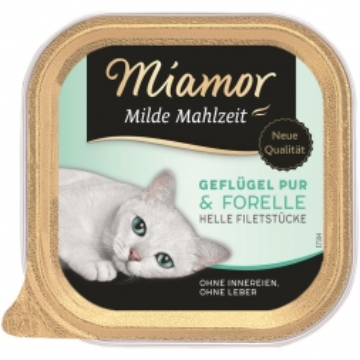 Miamor Schale Milde Mahlzeit Geflügel & Forelle 100g (Menge: 16 je Bestelleinheit)