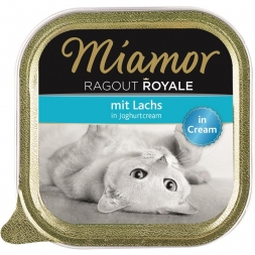 Miamor Schale Ragout Royale Cream Lachs in Joghurtcream 100g (Menge: 16 je Bestelleinheit)