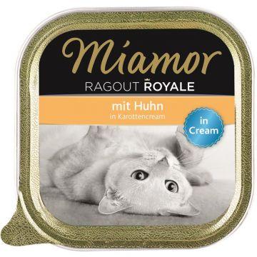 Miamor Schale Ragout Royale Cream Huhn in Karottencream 100g (Menge: 16 je Bestelleinheit)
