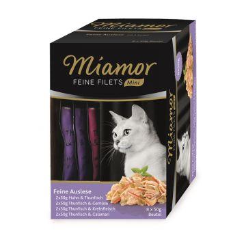 Miamor FB Feine Filets Mini Multibox Feine Auslese 8x50g (Menge: 4 je Bestelleinheit)