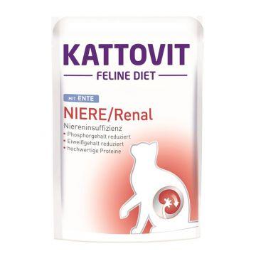 Kattovit PB Feline Diet Niere/Renal mit Ente 85g  (Menge: 24 je Bestelleinheit)