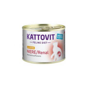 Kattovit Dose Feline Diet Niere/Renal Huhn 185g (Menge: 12 je Bestelleinheit)