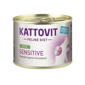 Kattovit Dose Feline Diet Sensitive Pute 185g (Menge: 12 je Bestelleinheit)