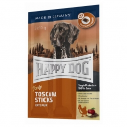 Happy Dog Tasty Toscana Sticks (Kaustange mit Ente) 3x10g