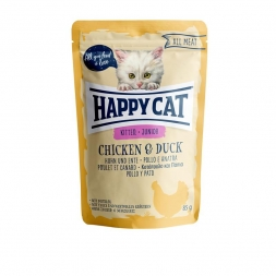 Happy Cat Pouches All Meat Junior Huhn & Ente 85g (Menge: 24 je Bestelleinheit)
