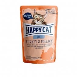 Happy Cat Pouches All Meat Adult Truthahn & Seelachs 85g (Menge: 24 je Bestelleinheit)