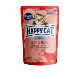 Happy Cat Pouches All Meat Adult Rind & Herz 85g (Menge: 24 je Bestelleinheit)
